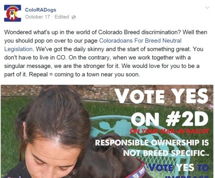 ColoRADogs tells people from everywhere to vote